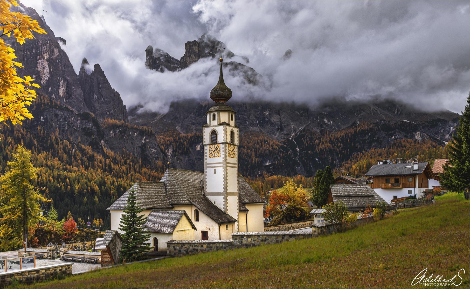 Colfosco Church, Italy