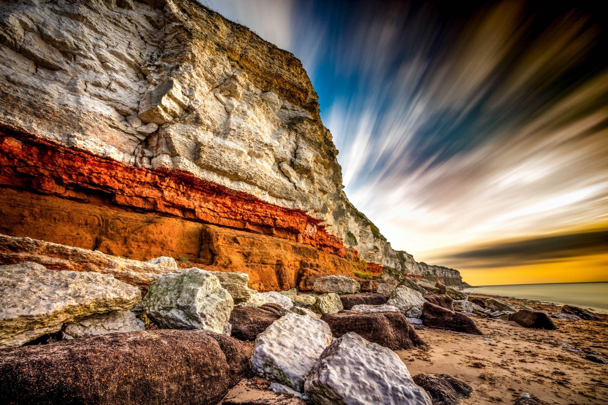 Hunstanton Beach Cliffs Norfolk, United Kingdom