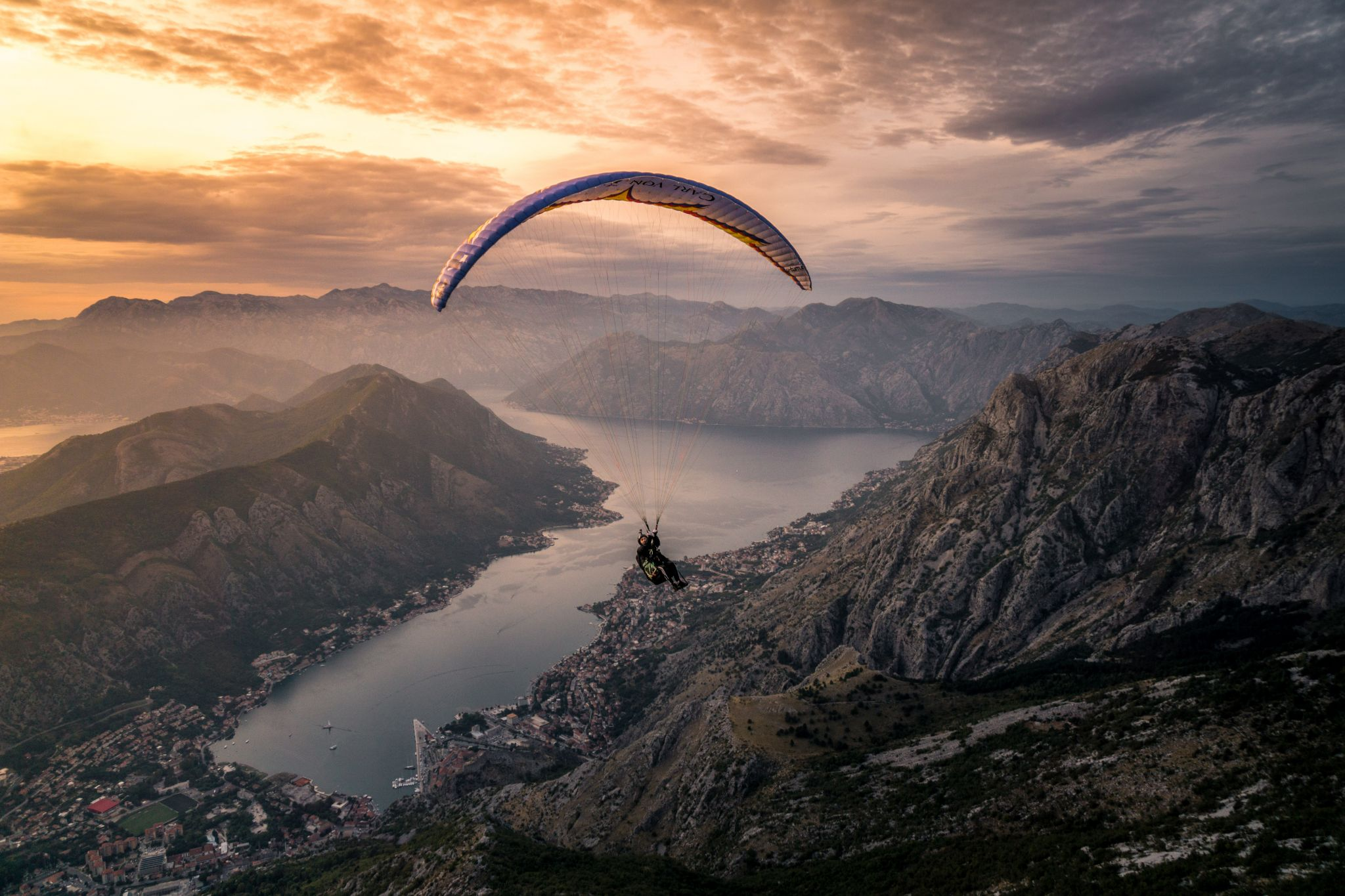 Kotor from the air, Montenegro