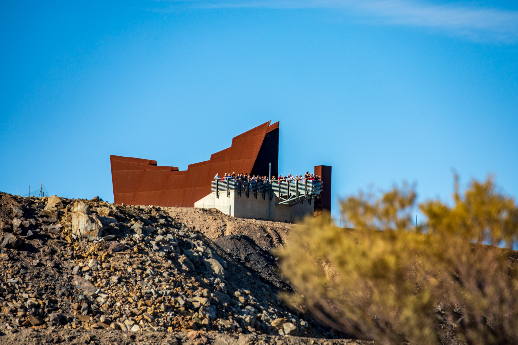Line of Lode Lookout and Miners Memorial Broken Hill NSW, Australia