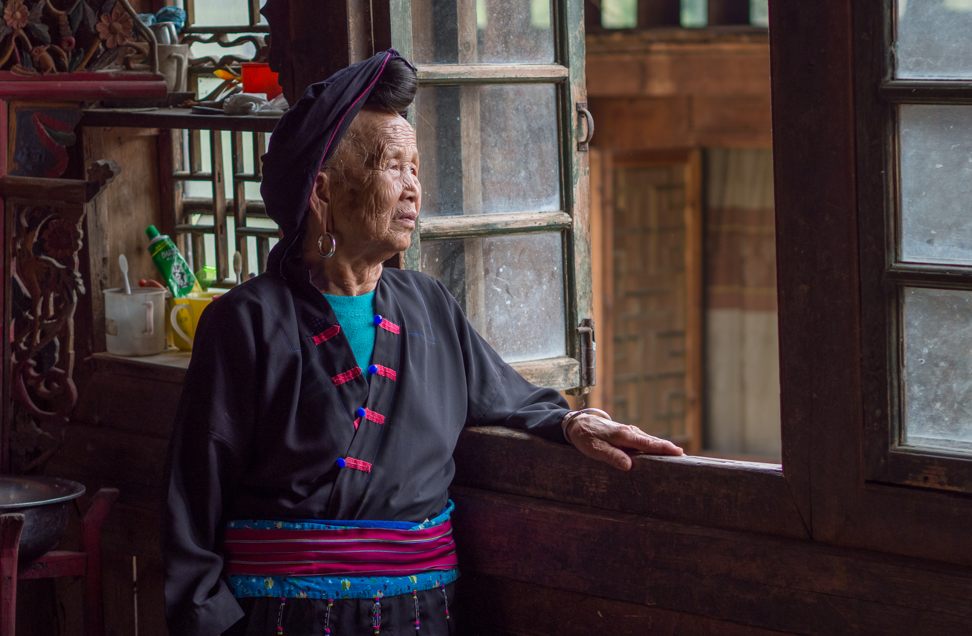 Local people at the village, China