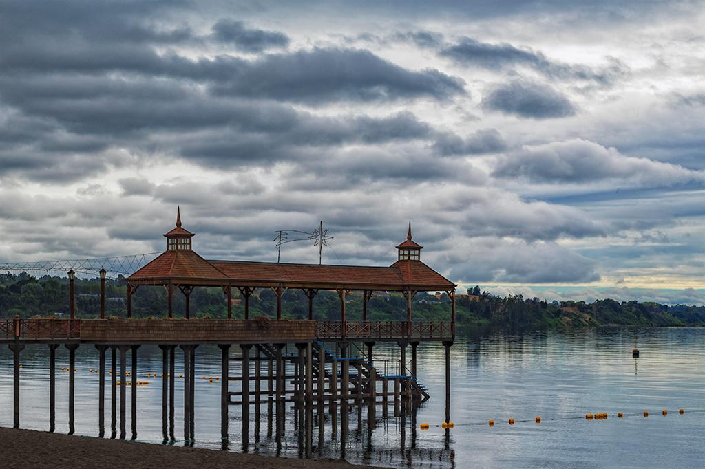 Pier at Lake Llanquihue, Chile