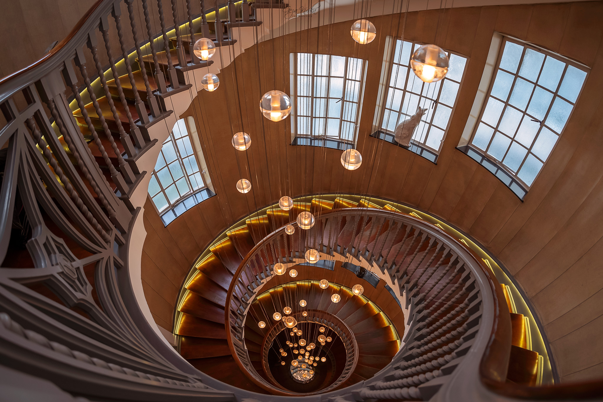 Spiral staircase in Heal & son store., United Kingdom