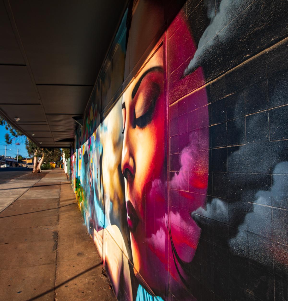 Street Art by Heesco in Broken Hill NSW, Australia