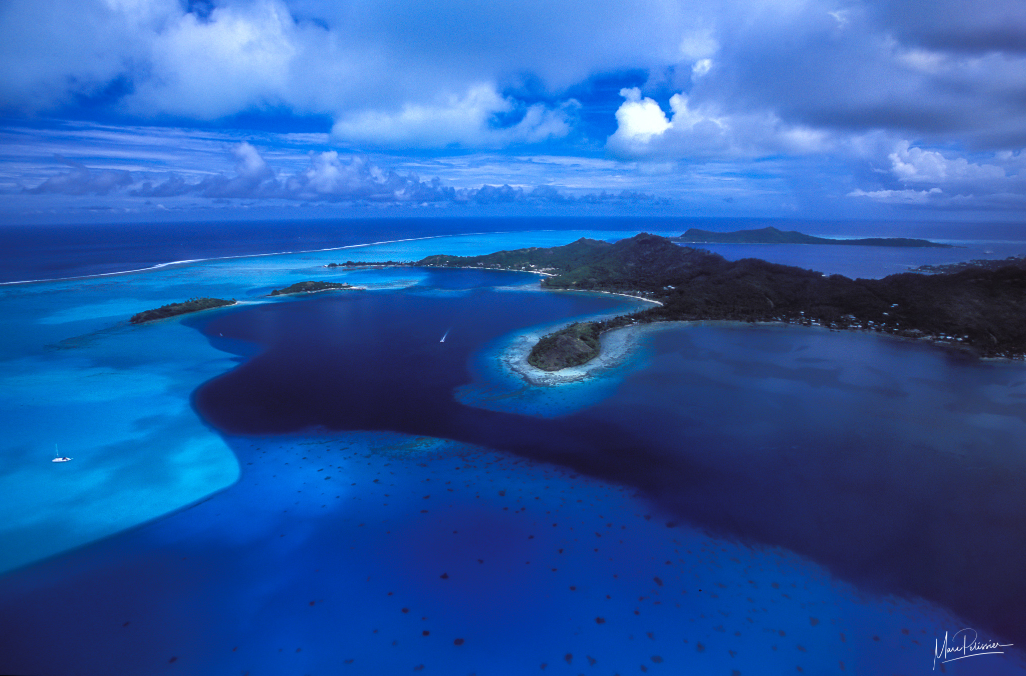 Surrounded by blue, French Polynesia