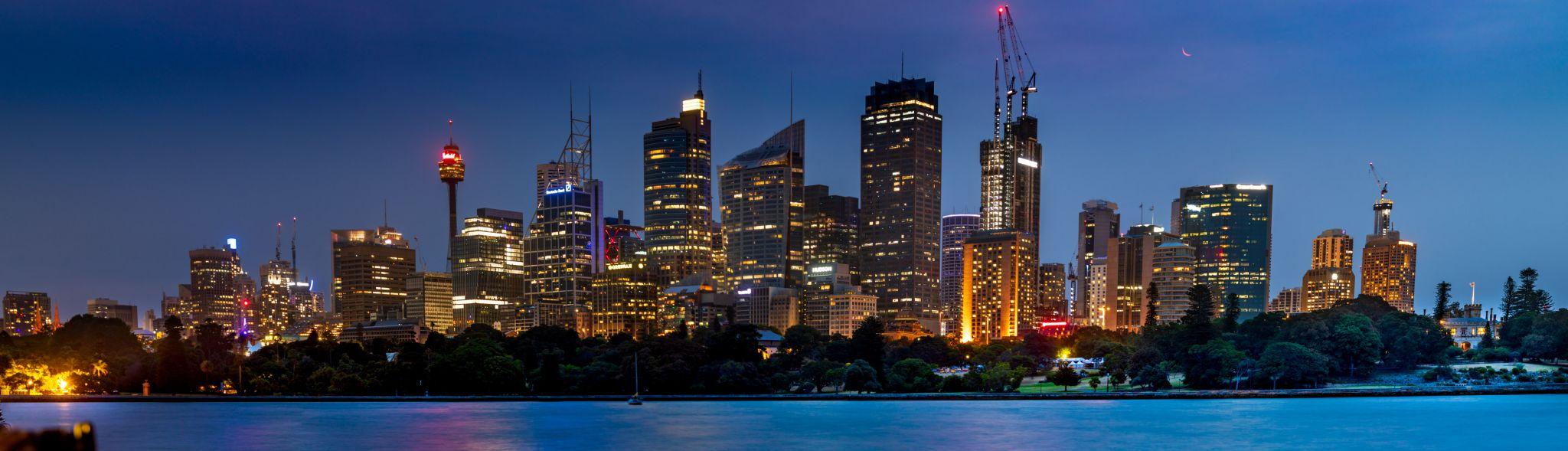 Sydney city at the blue hour., Australia
