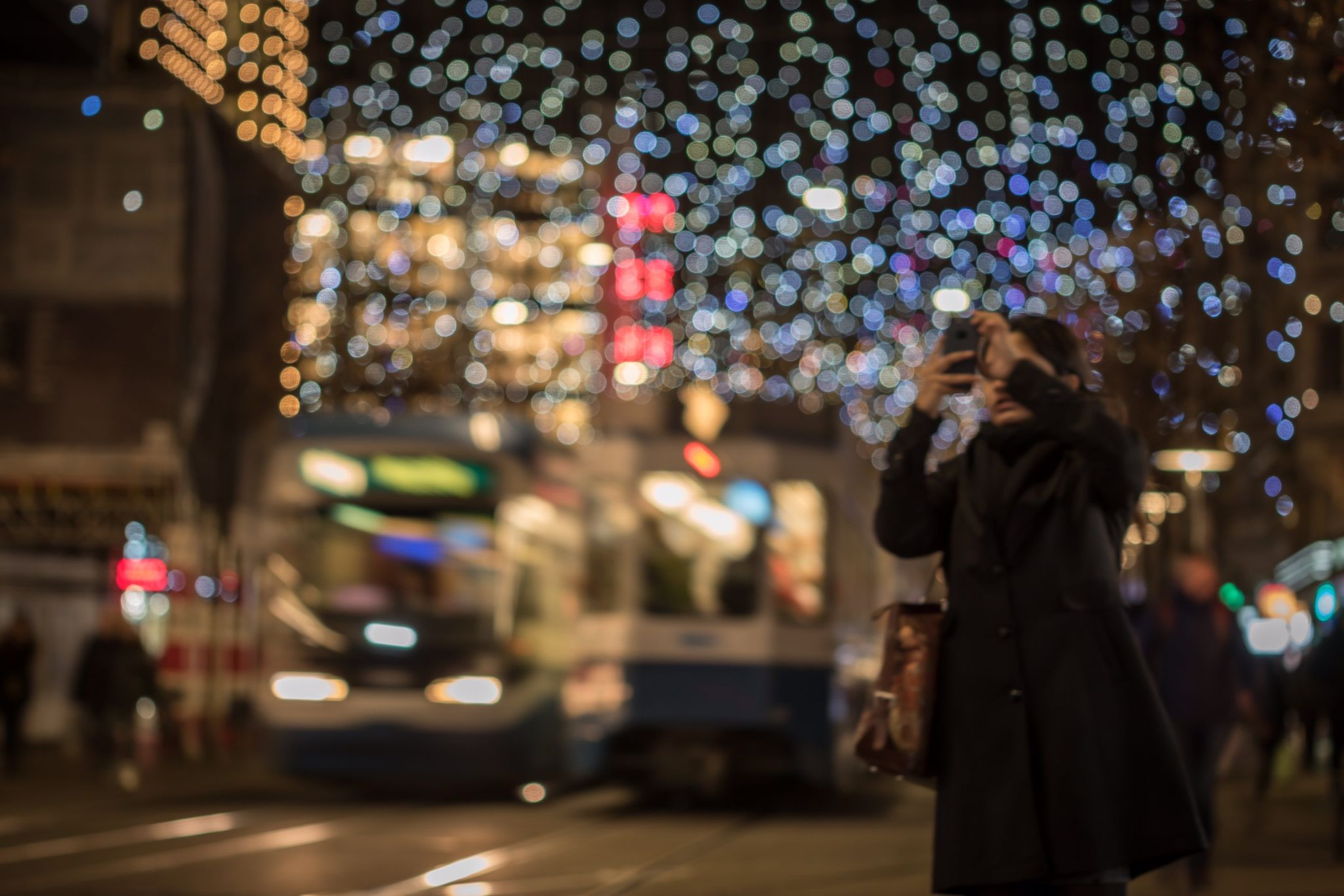Taking pictures in Zurich, Switzerland