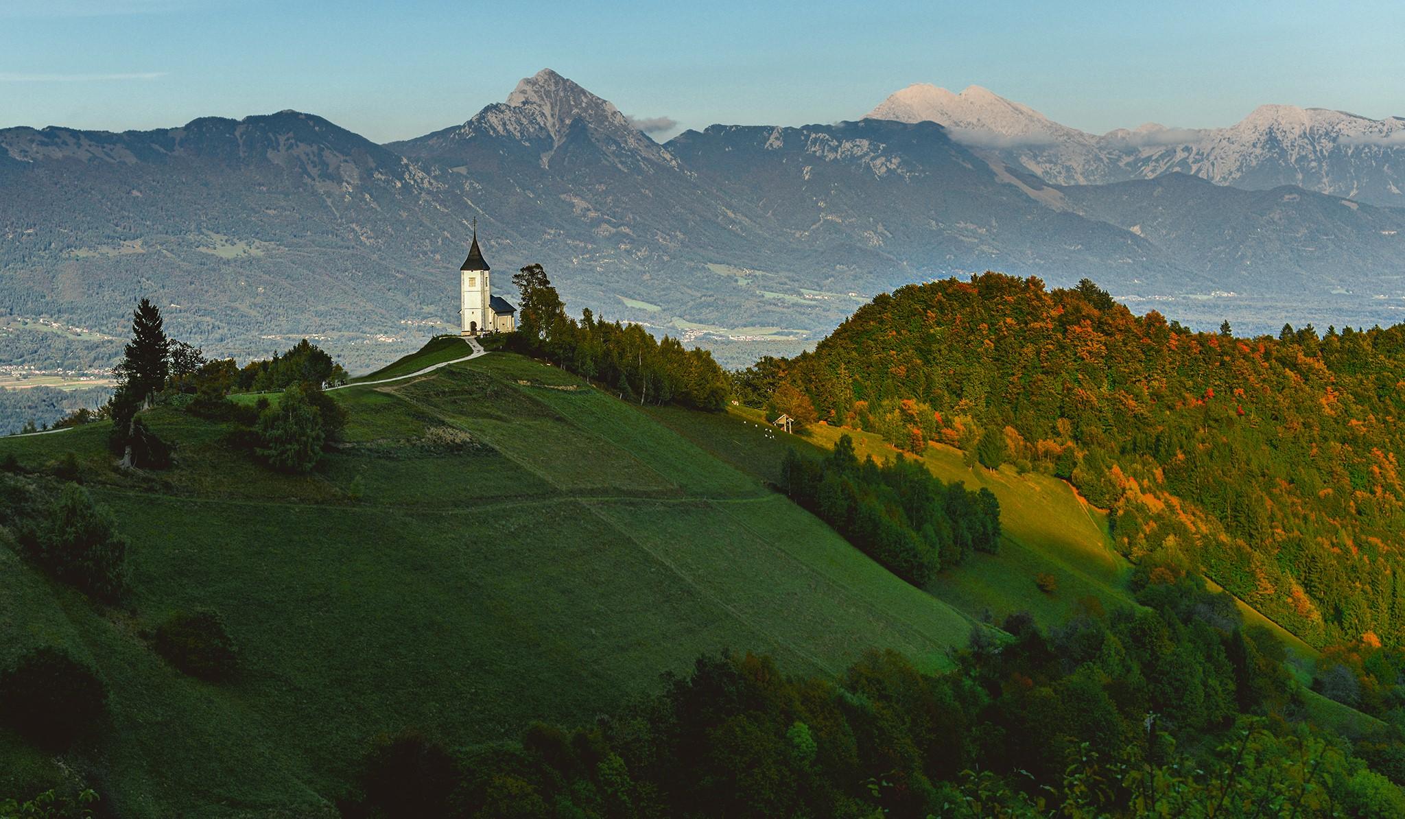 The church St. Primoz, Jamnik, Slovenia