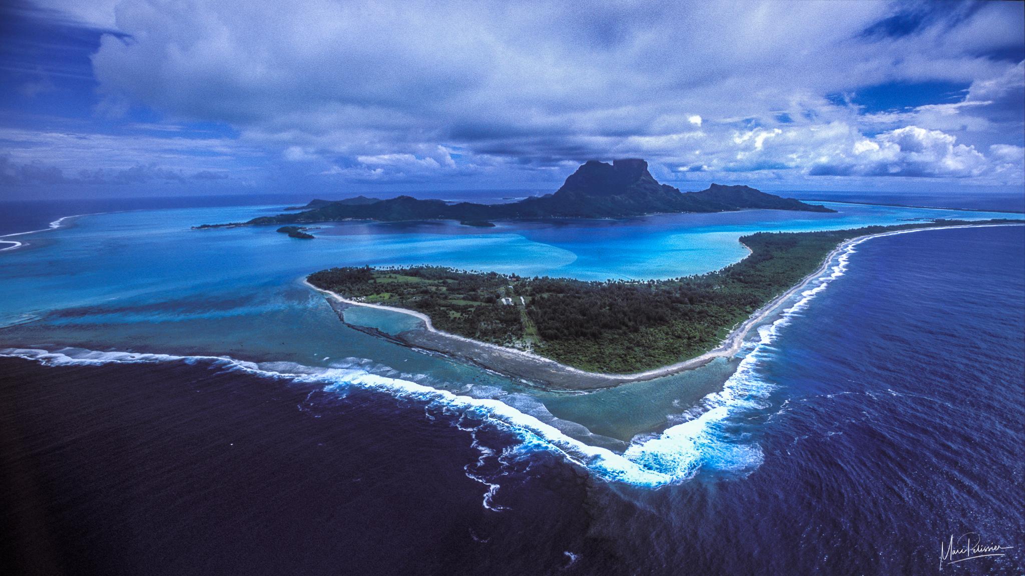 The Matira heart, French Polynesia