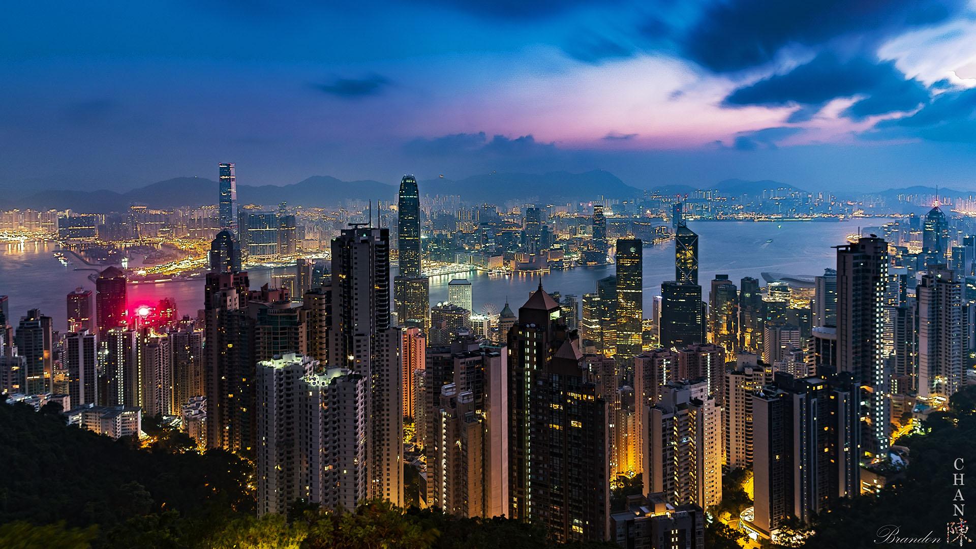 The Victoria Peak - Hong Kong Island - Night, Hong Kong