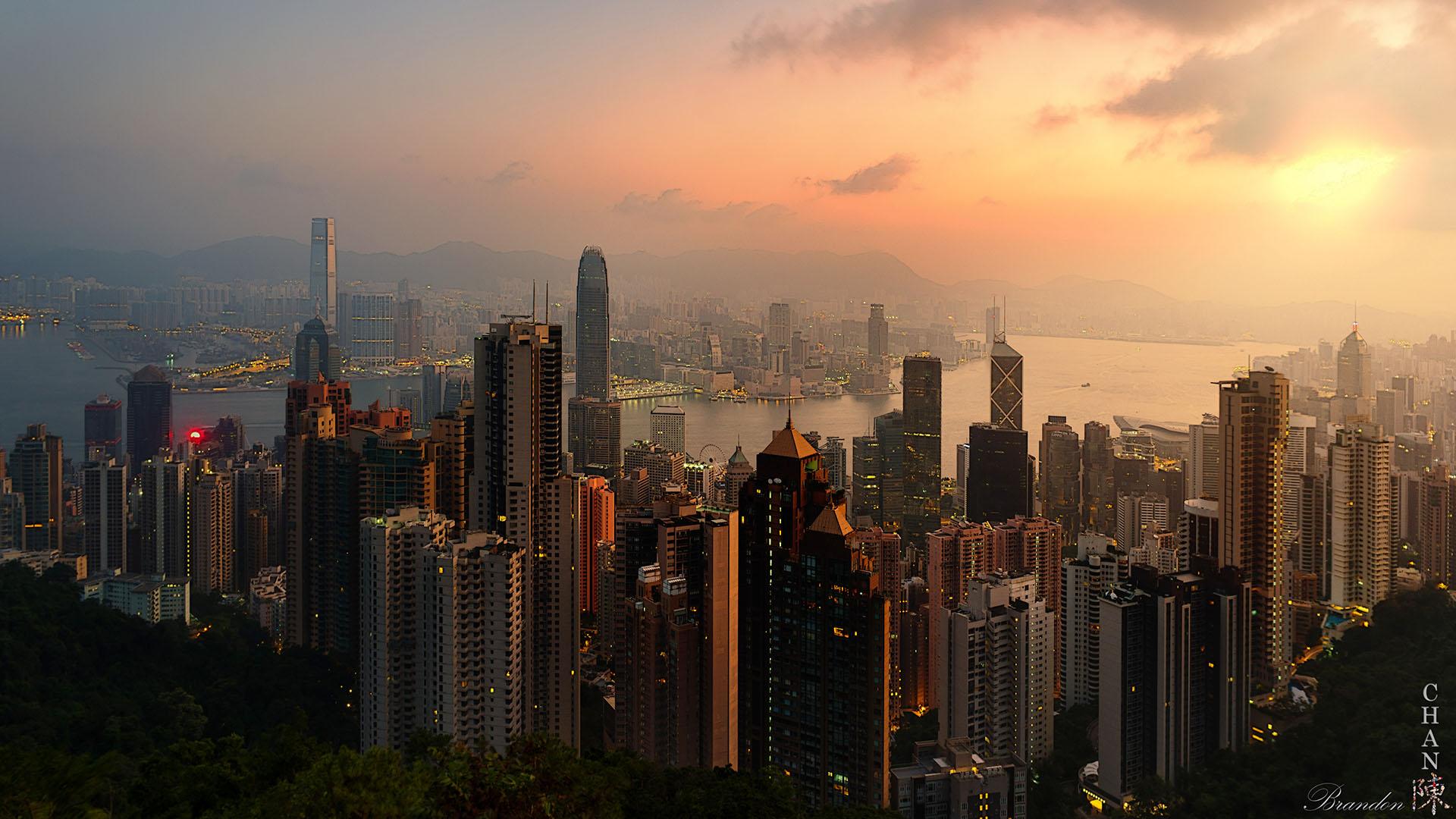 The Victoria Peak - Hong Kong Island - Sunset, Hong Kong