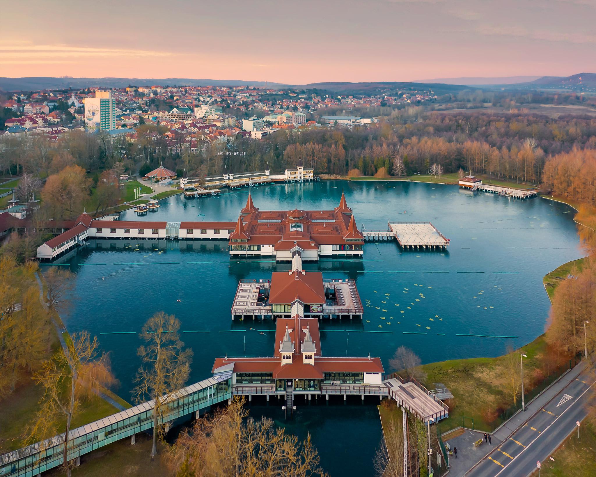 Thermal lake and bath. Hévíz, Hungary., Hungary
