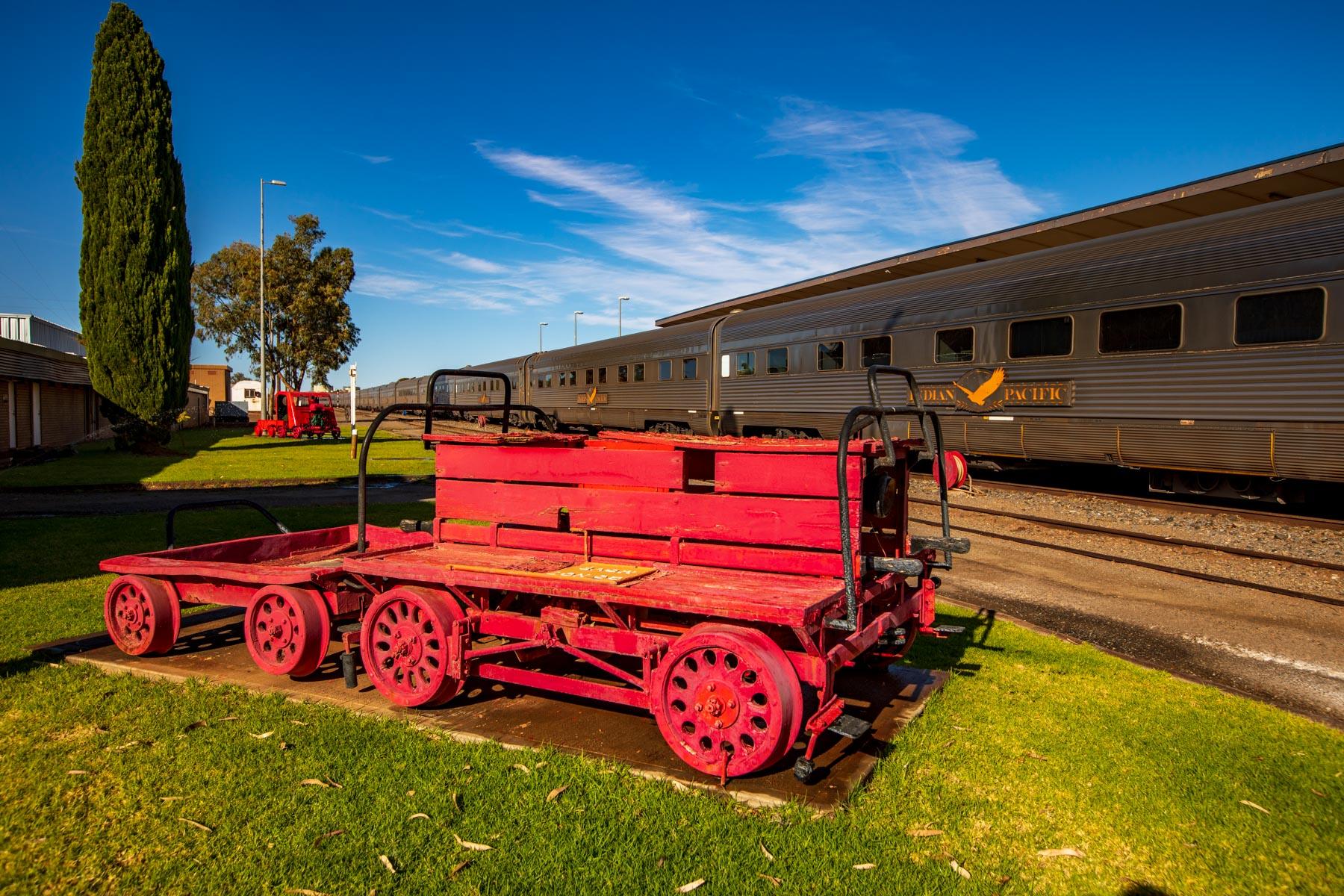Vintage moterised hand car Broken Hill NSW, Australia