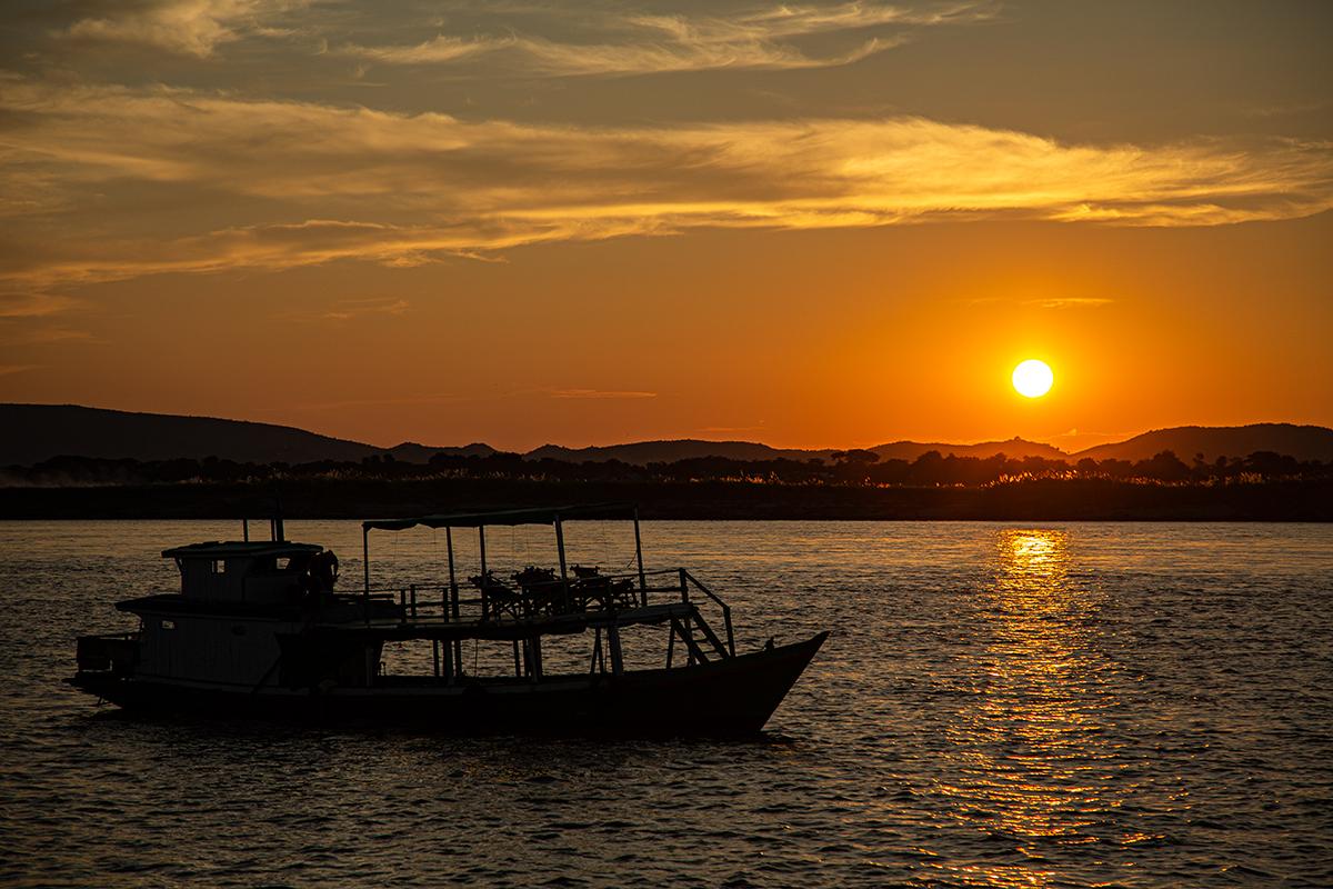 Abends auf dem Irrawaddy, Myanmar