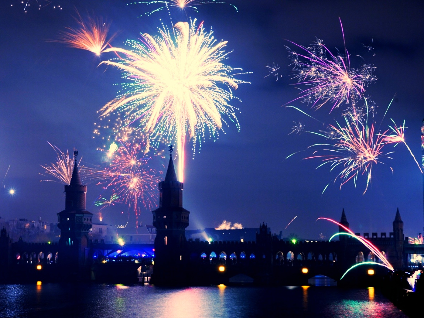 Berlin fireworks, Germany
