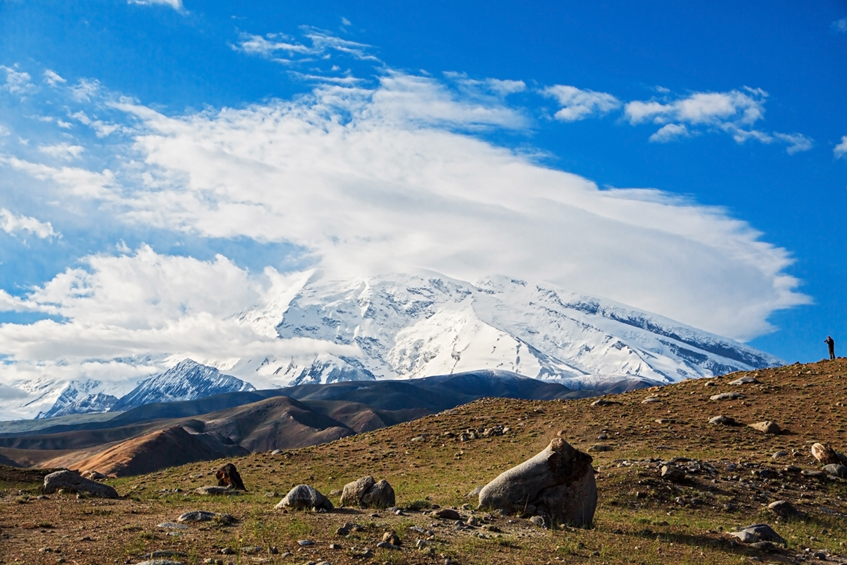 Blick auf den Muztagh Ata, Tajikistan