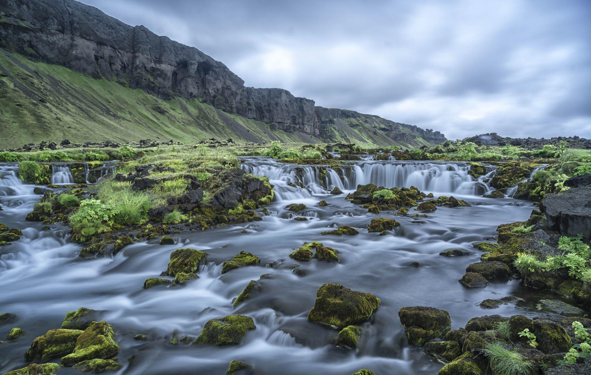 Brook Near Jokulsarlon, Iceland