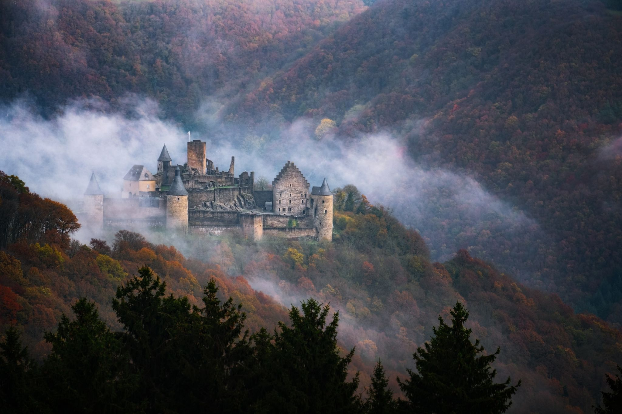 Castle Bourscheid, Luxembourg