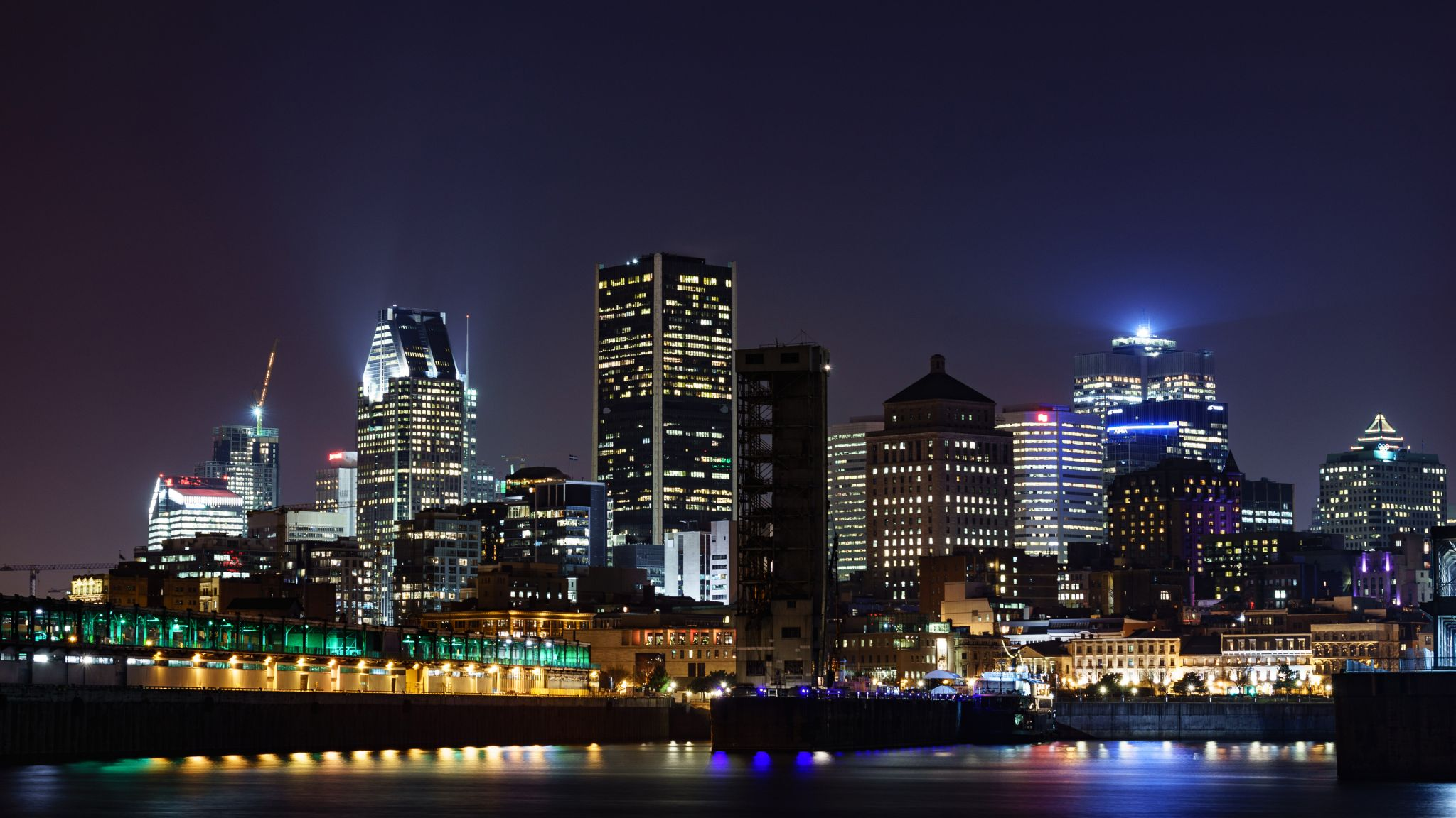 Downtown Montreal at night, Canada