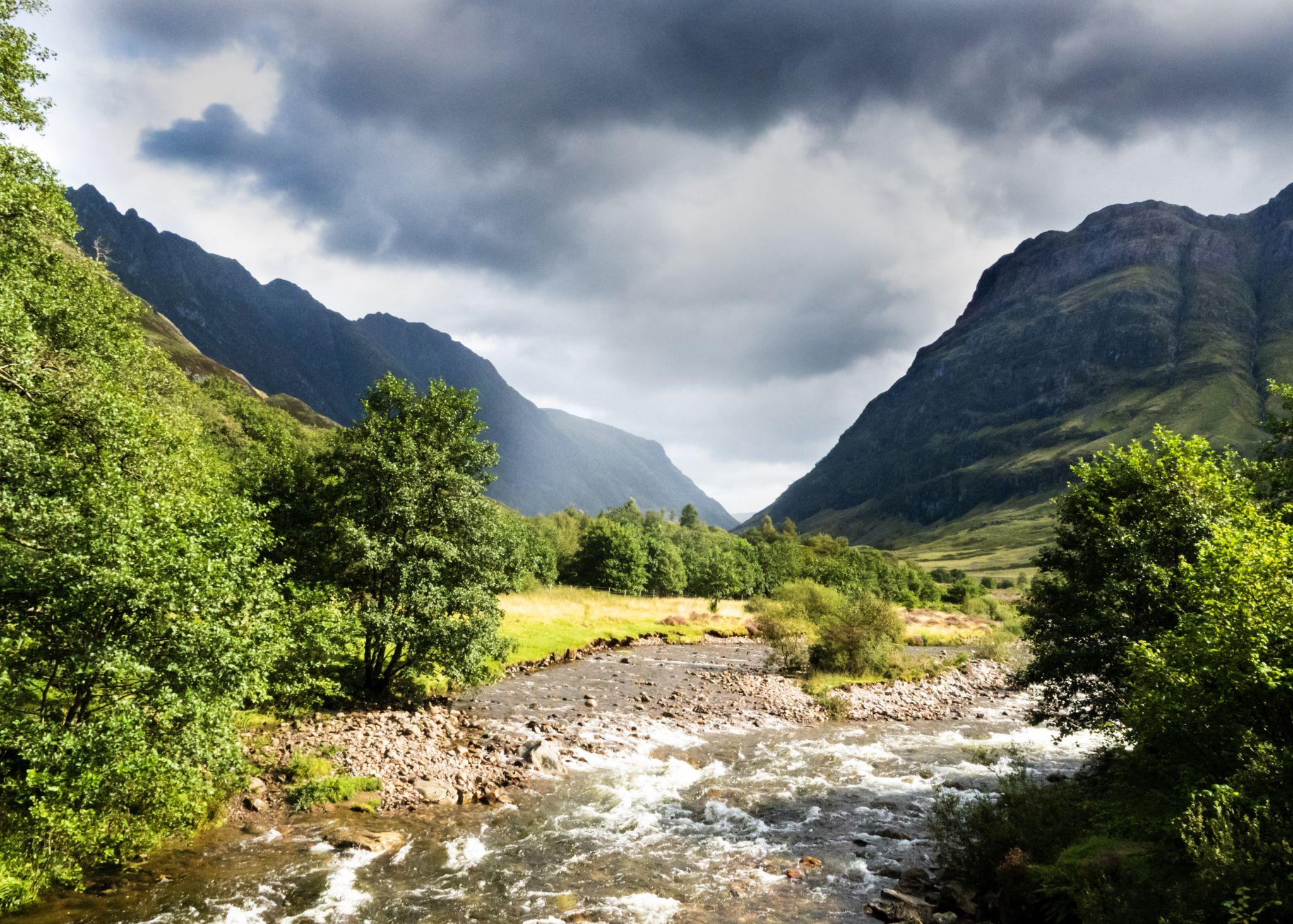 Glencoe river from Signal Rock, United Kingdom