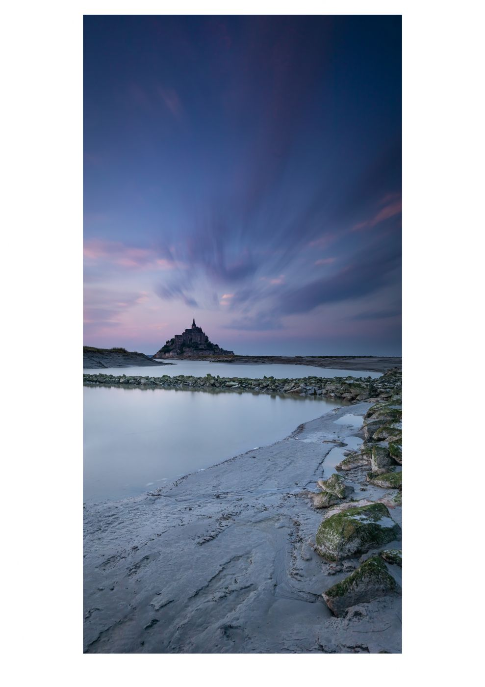 Le Mont Saint-Michel- From the water, France