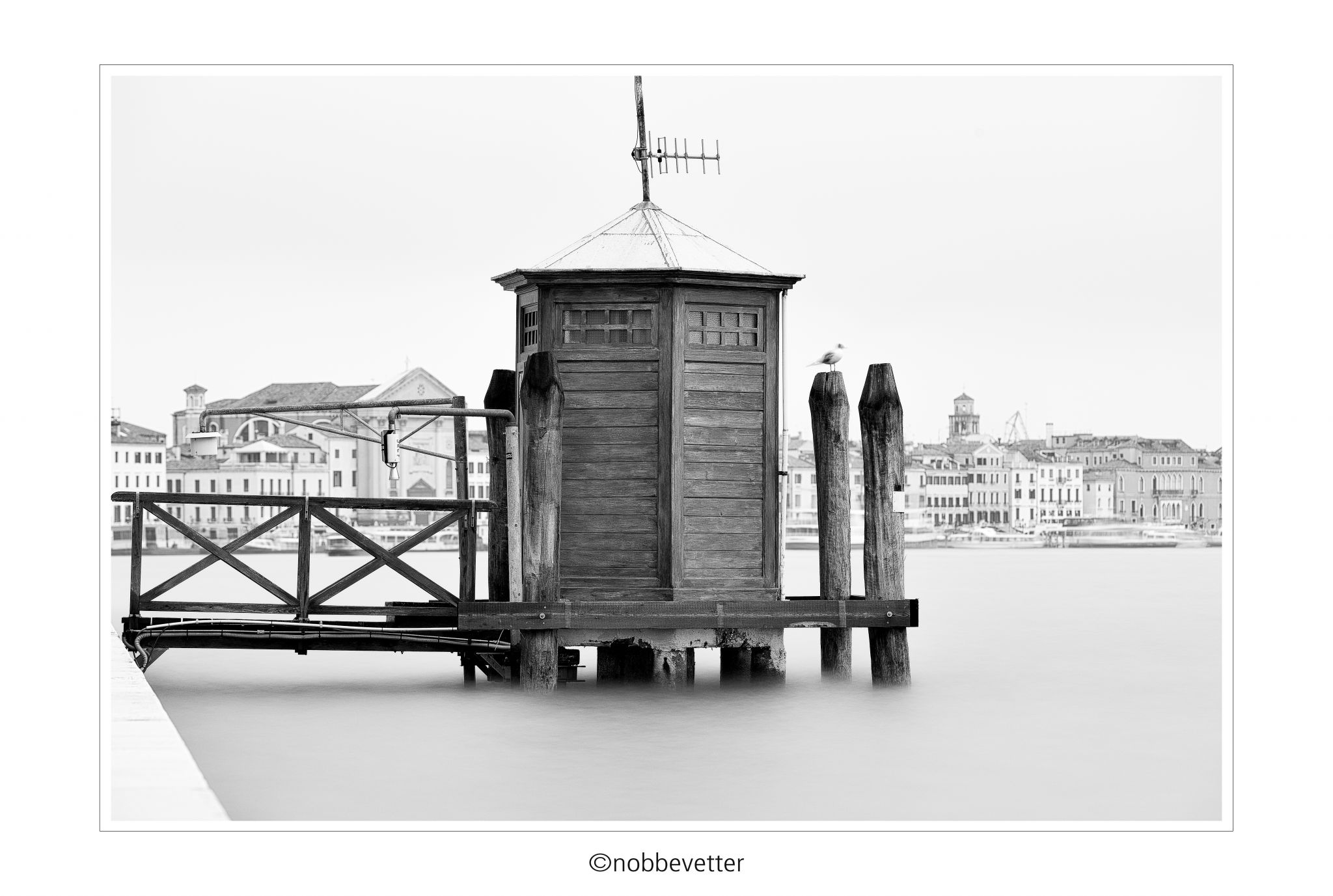 Measuring station in Venice, Italy