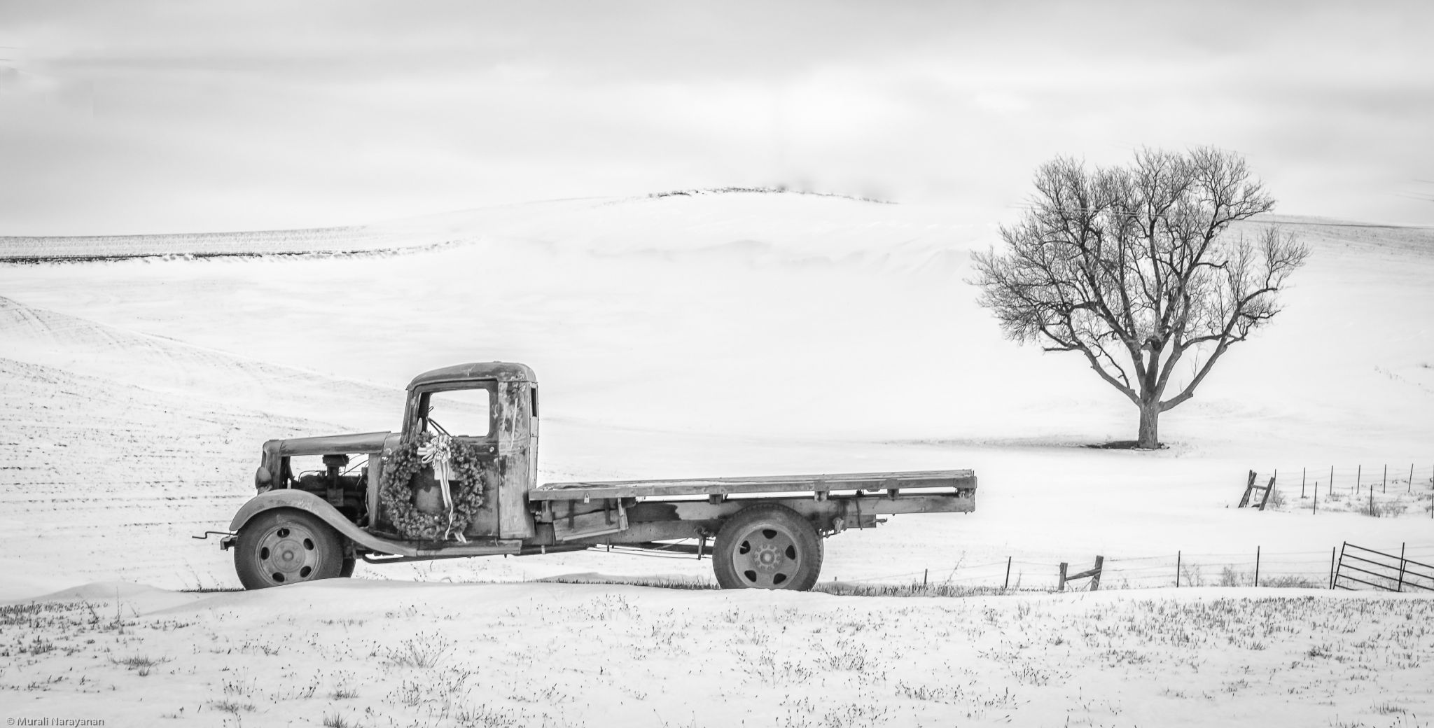 Palouse Truck in Winter, USA