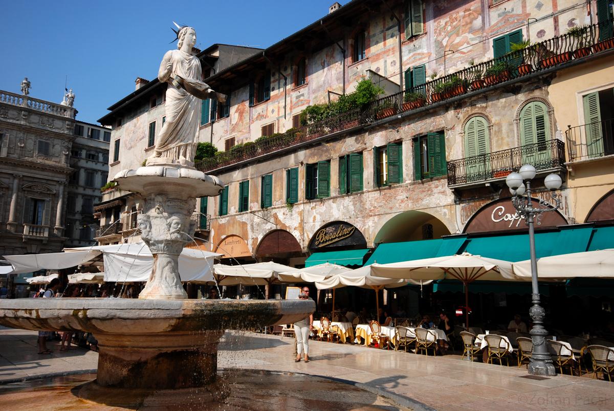Piazza delle Erbe, Italy