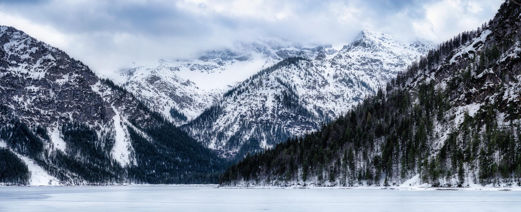 Plansee, Tyrol (southern mountain view), Austria