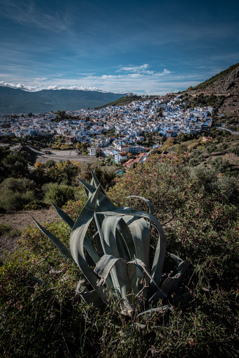 Road to Mosquée, Chefchaouen, Morocco