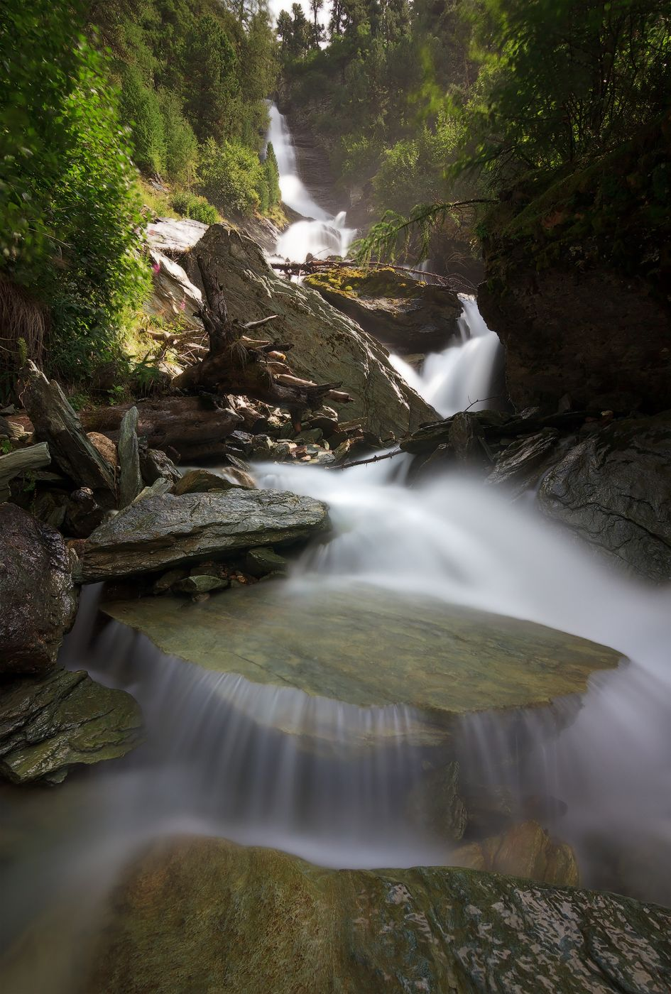Schinellas waterfall, Switzerland