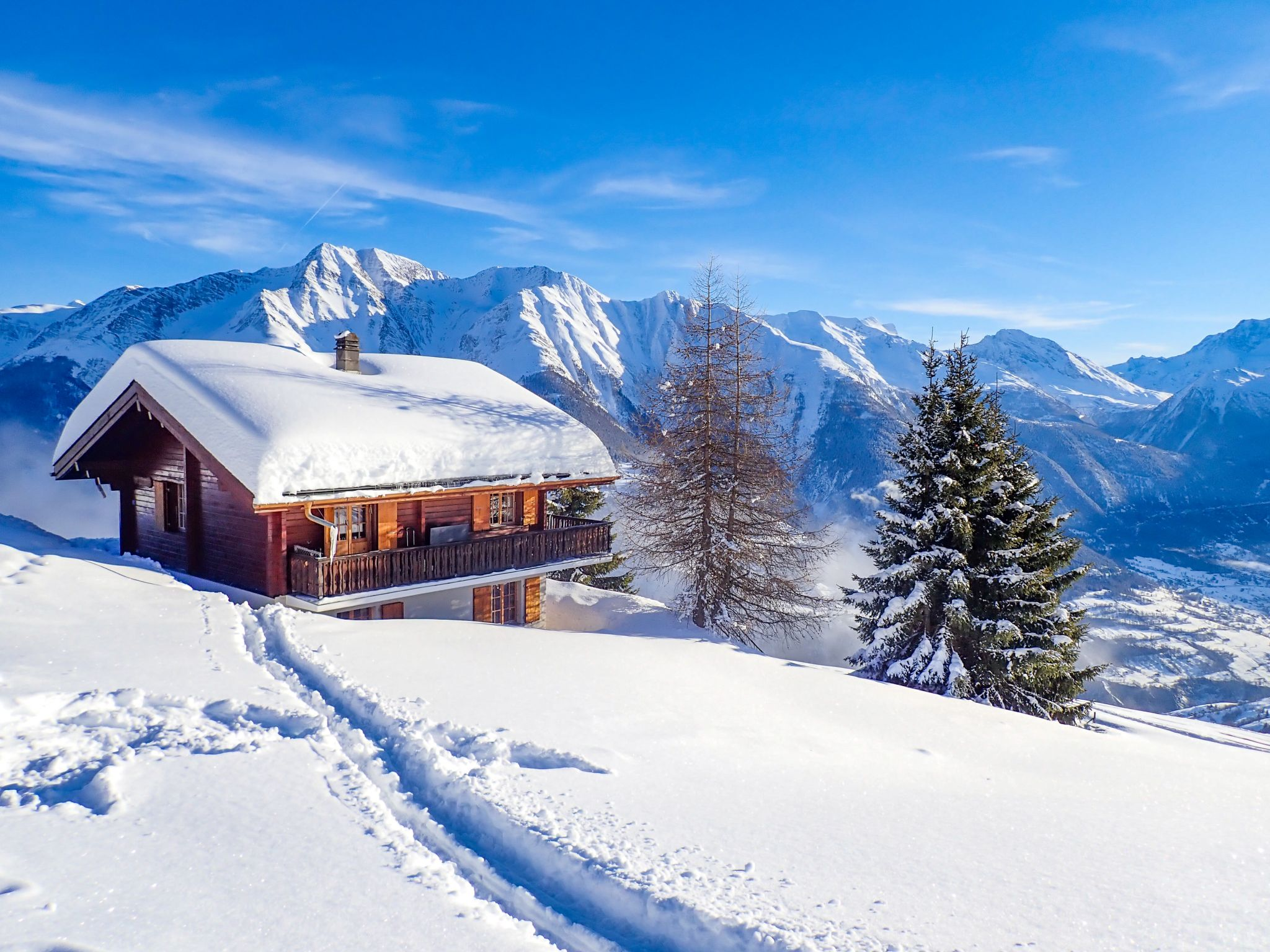 Snow Cabin at Riederalp, Switzerland