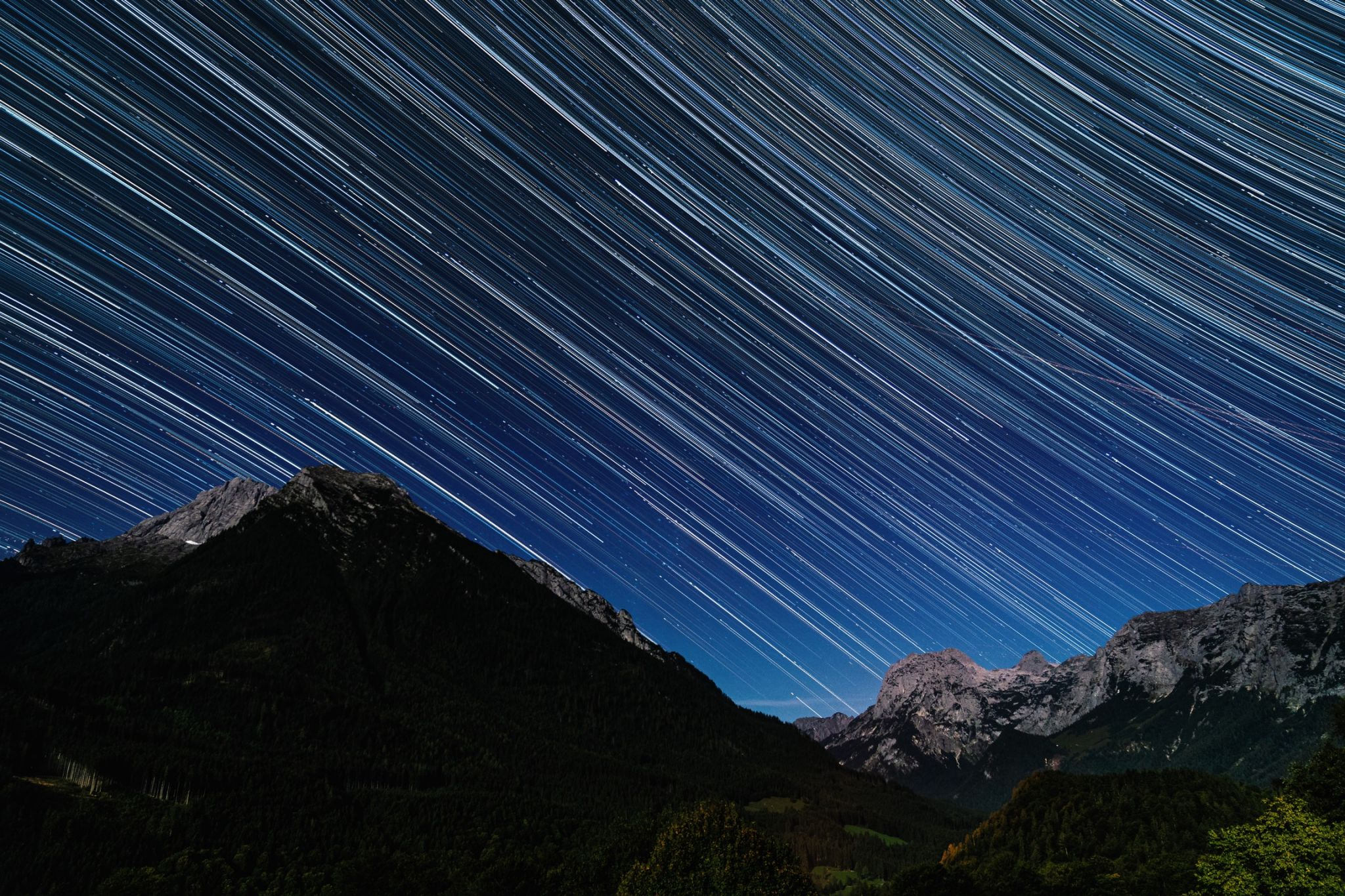 Star trails, Germany