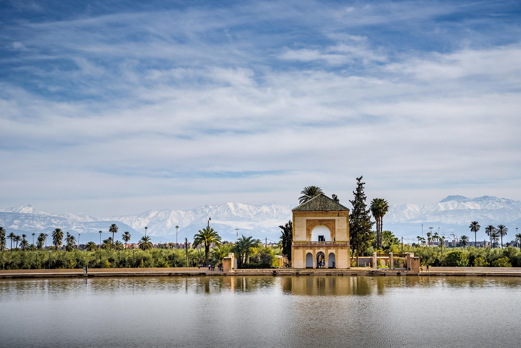 The Menara gardens, Morocco