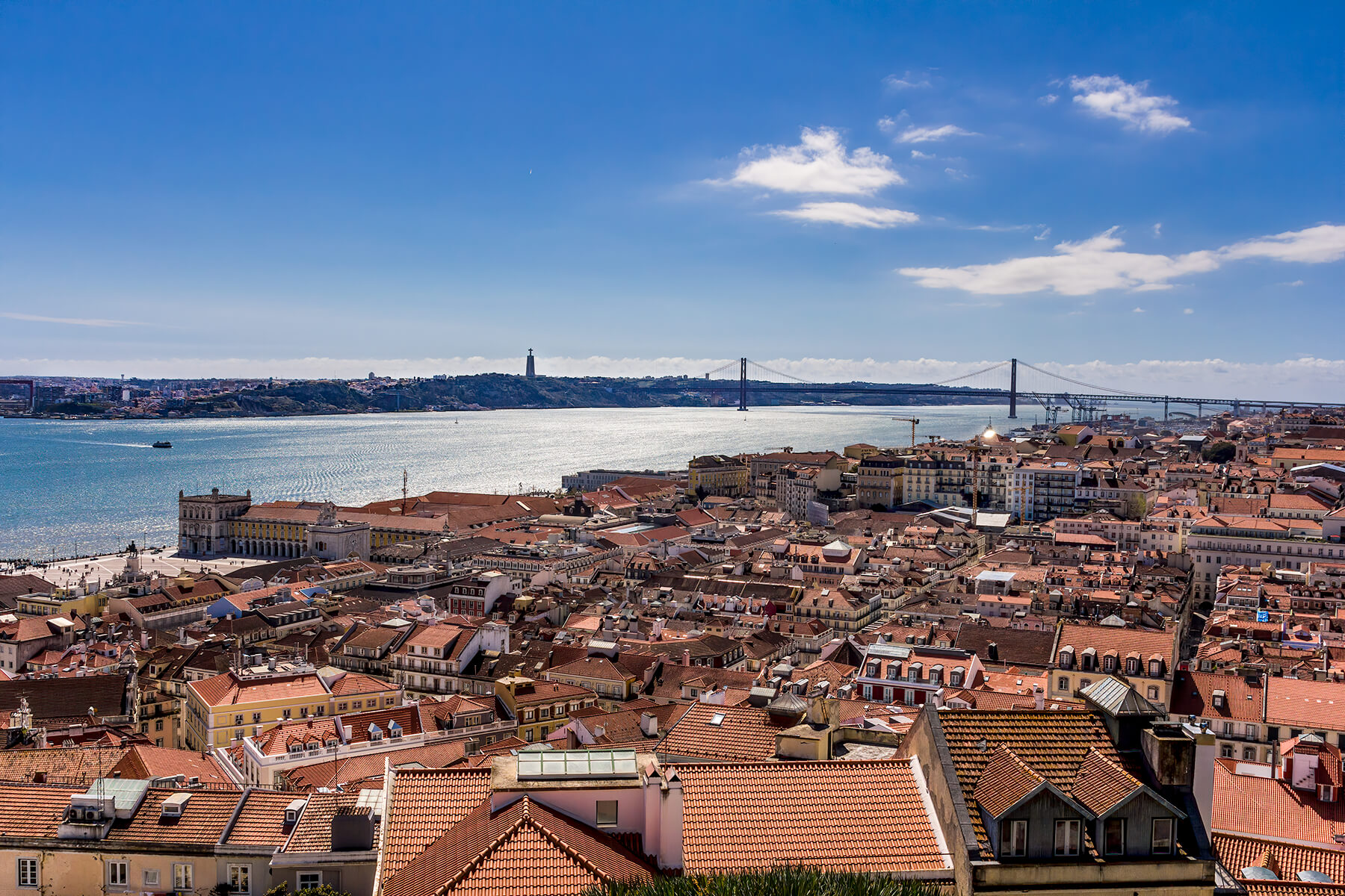 View over Lisbon from Castelo de São Jorge, Portugal