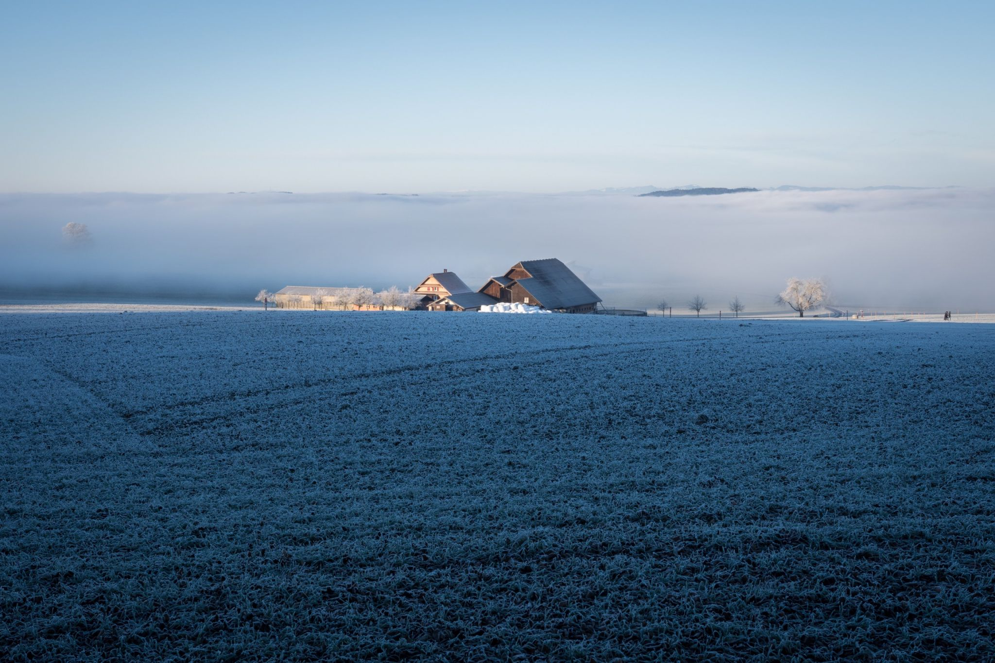 Winter view of Seetal, Switzerland
