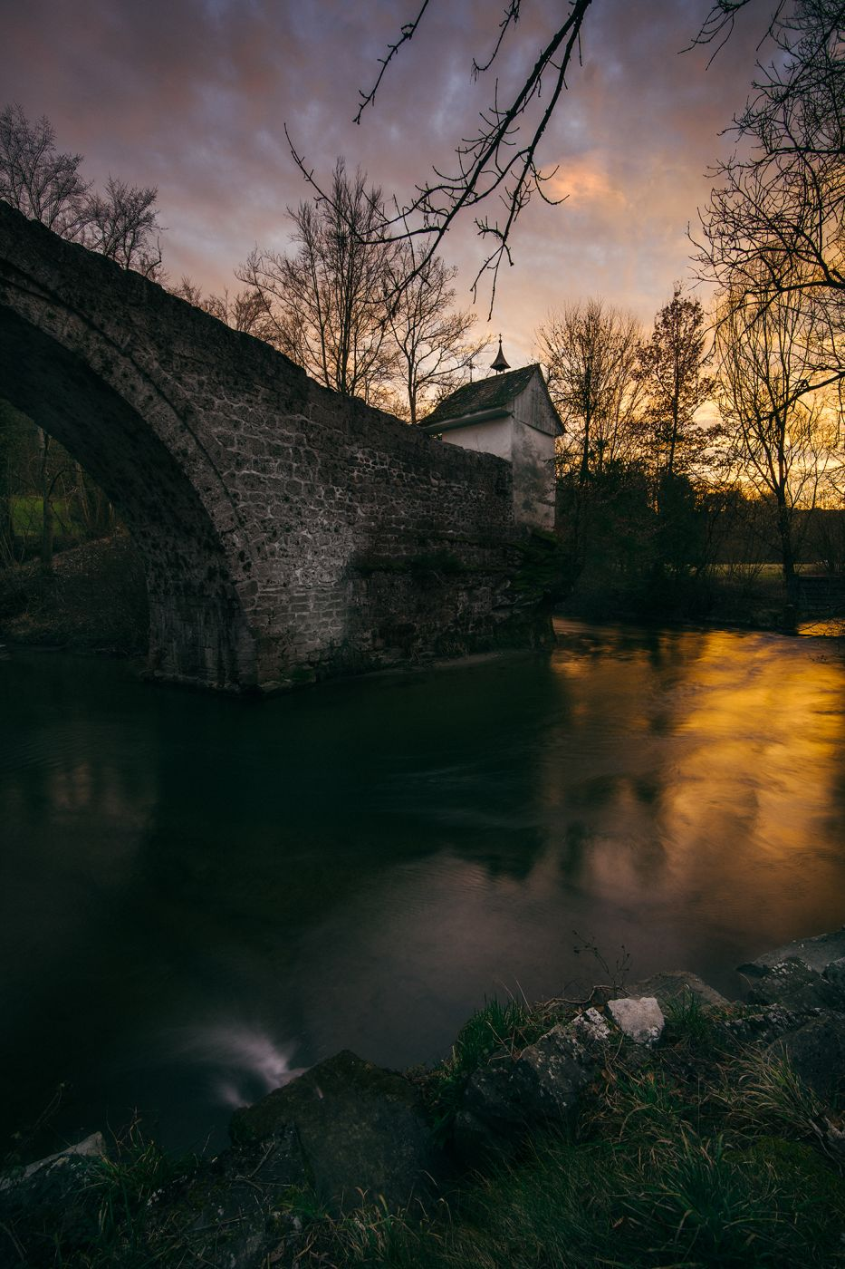 Ancient bridge, Switzerland