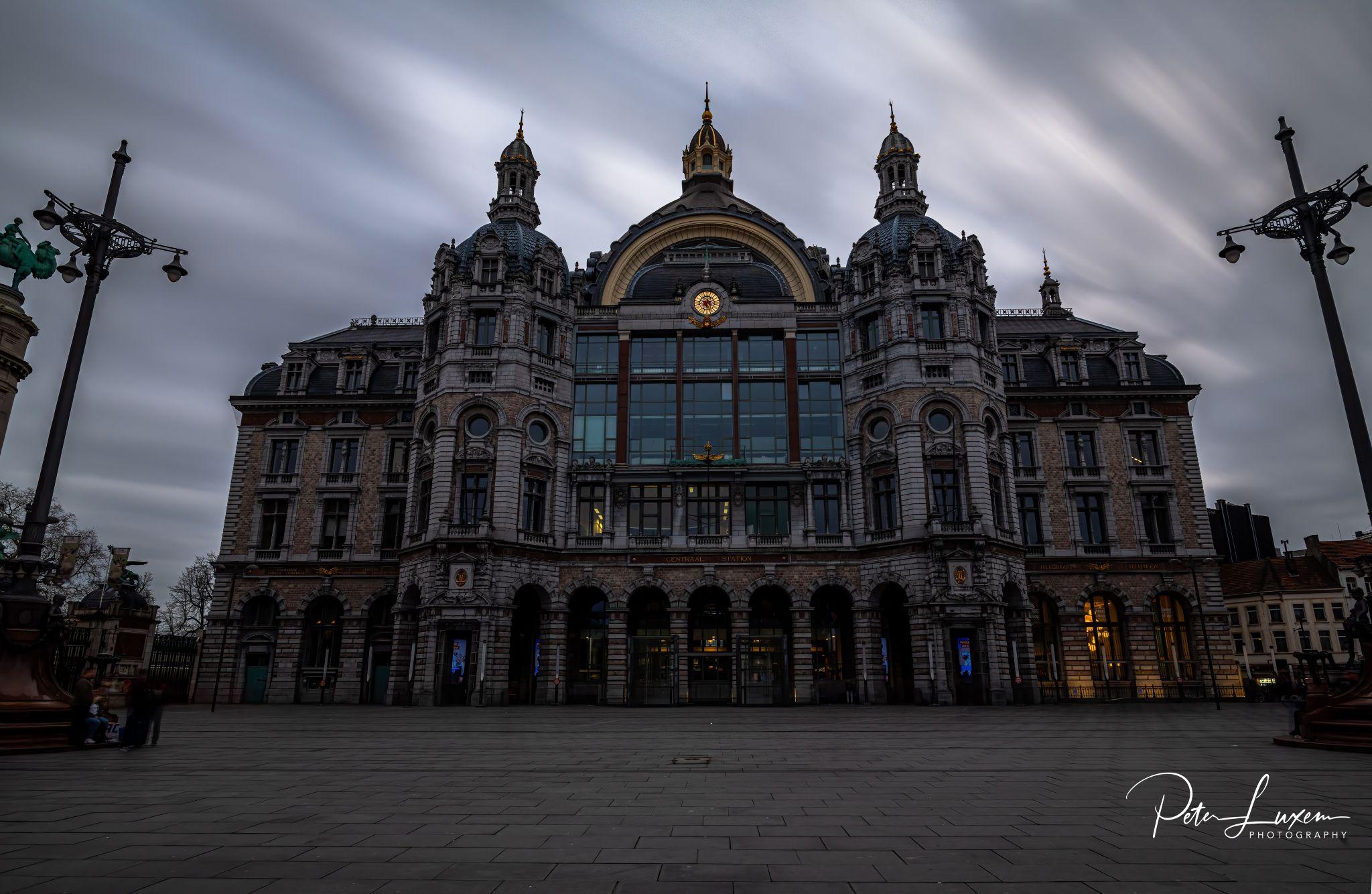 Antwerp central station - outside, Belgium