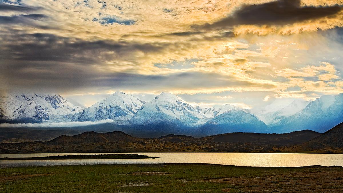 Blick auf das Pamirgebirge, China