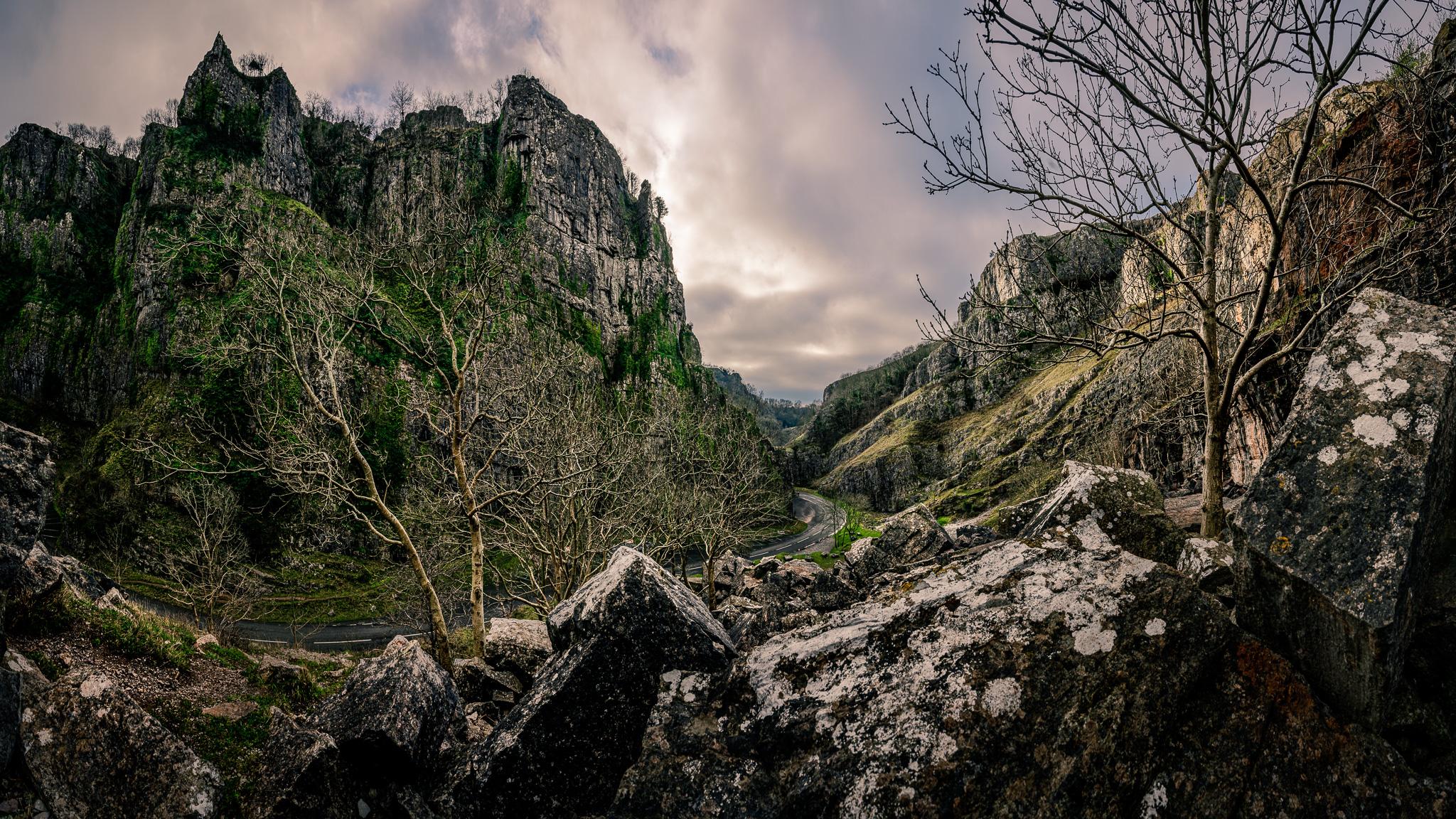 Cheddar Gorge in Somerset, GB, United Kingdom