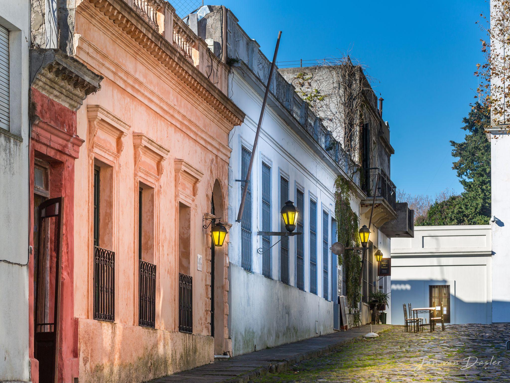 Cobblestone street in Colonia del Sacramento, Uruguay, Eastern Republic of
