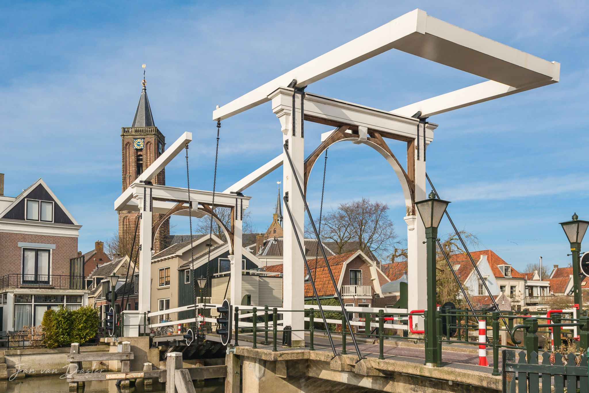 Drawbridge in Loenen aan de Vecht, Netherlands