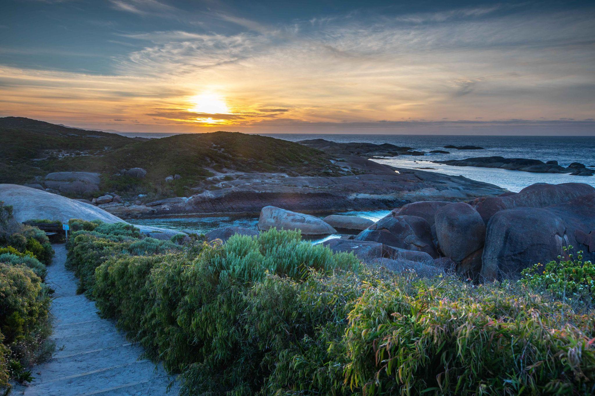 Elephant Rocks Sunrise Denmark Western Australia, Australia