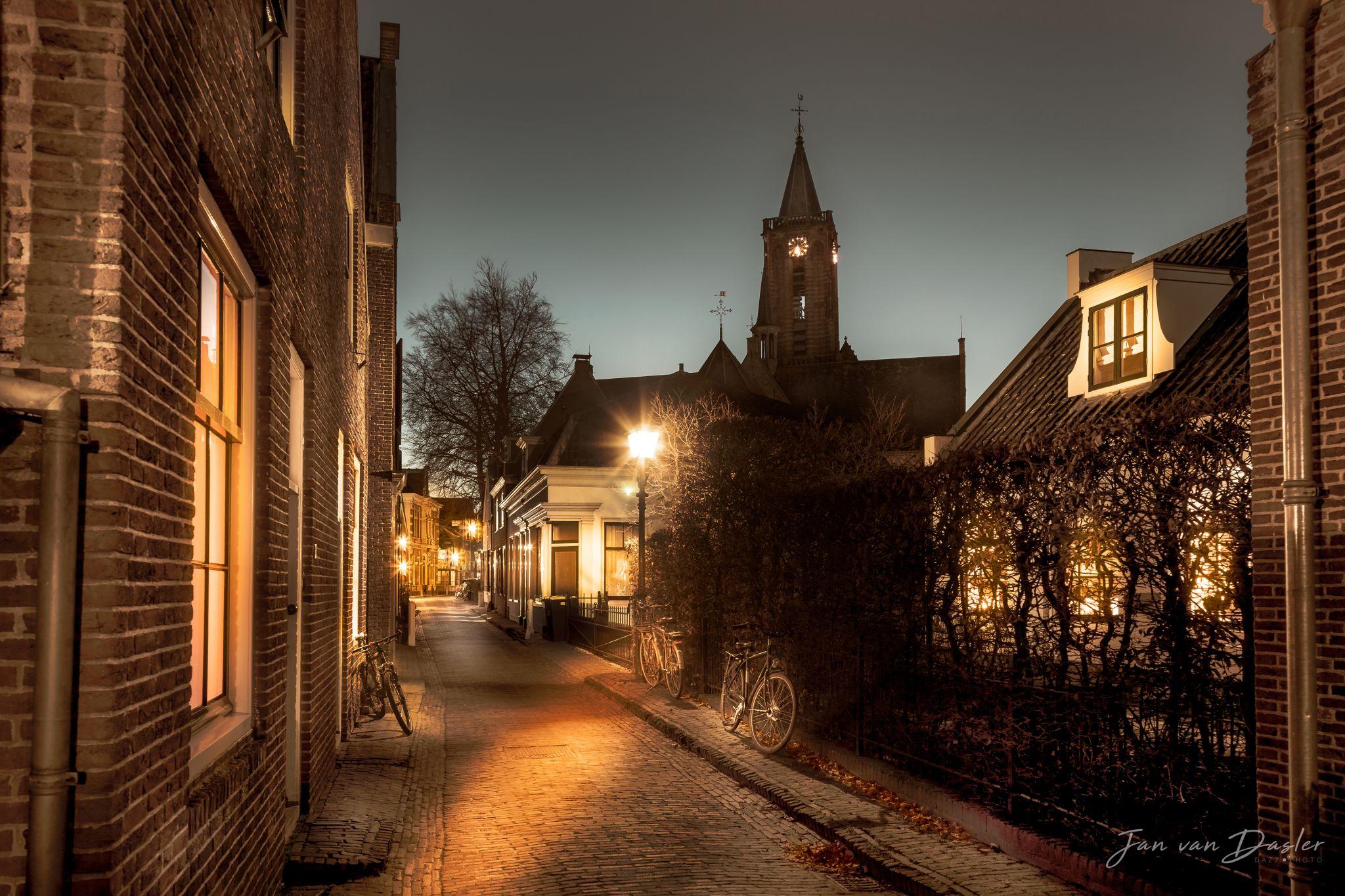 Little Street in Loenen aan de Vecht, Netherlands