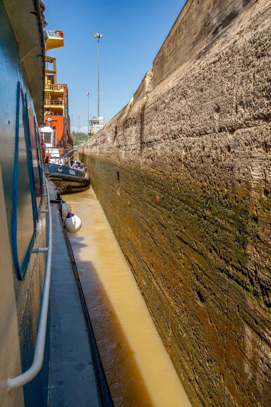Lock experience in the Panama Canal, Panama