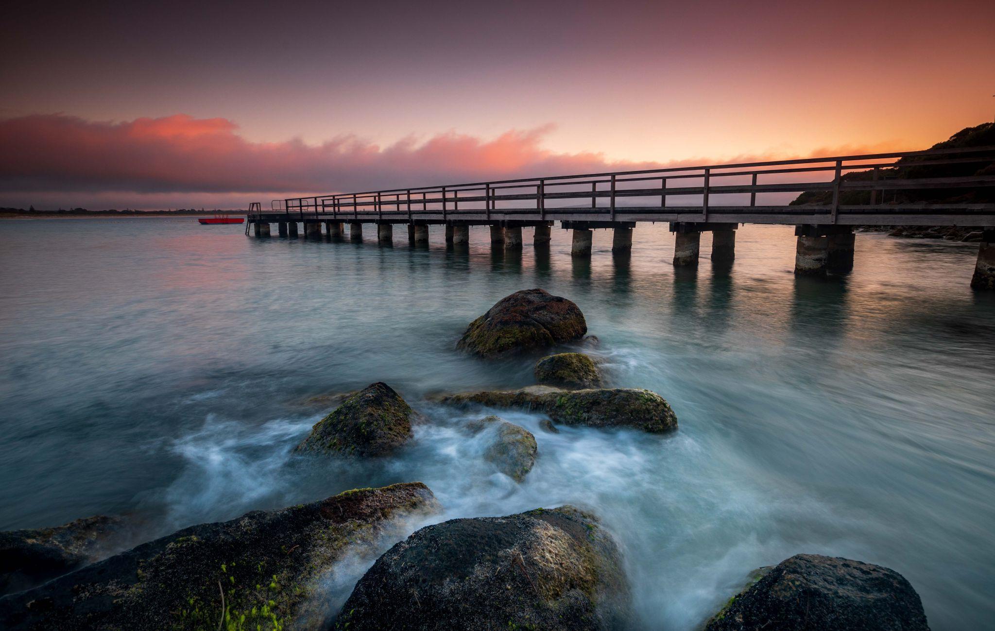 Middleton Beach Jetty & rocks, Albany, Western Australia, Australia