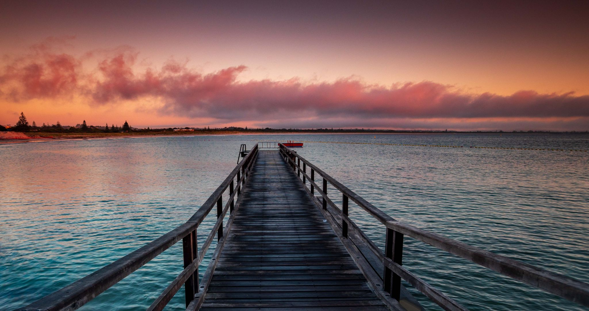 Middleton Beach Jetty Sunrise, Albany Western Australia, Australia