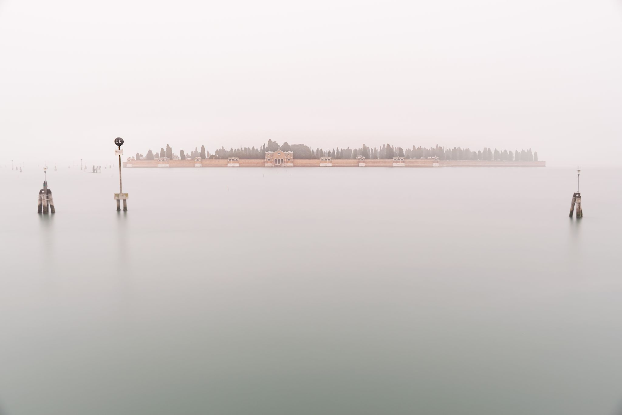 Milky morning in Venetian Lagoon, Italy