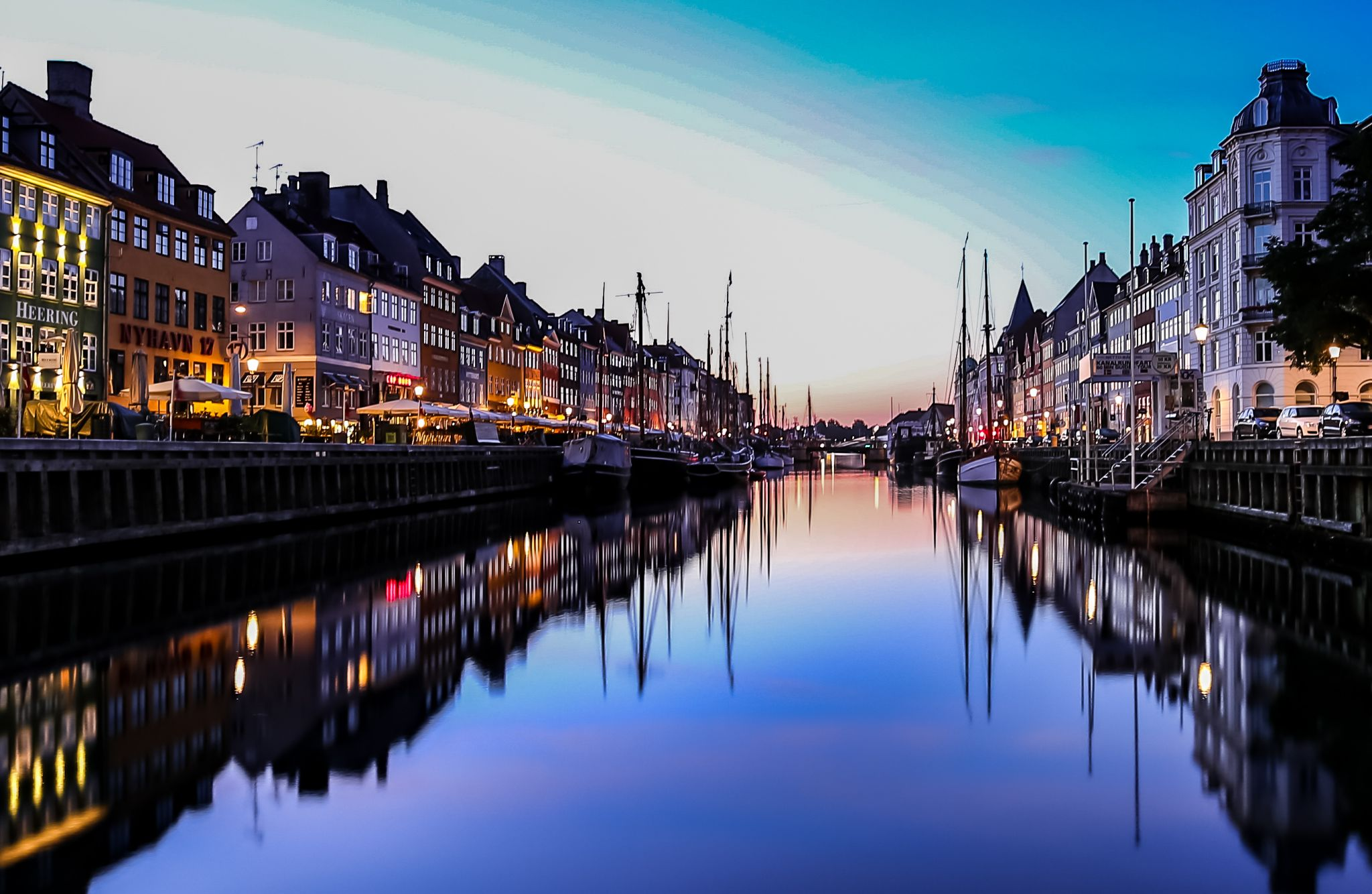 Nyhavn, Sunrise, Denmark