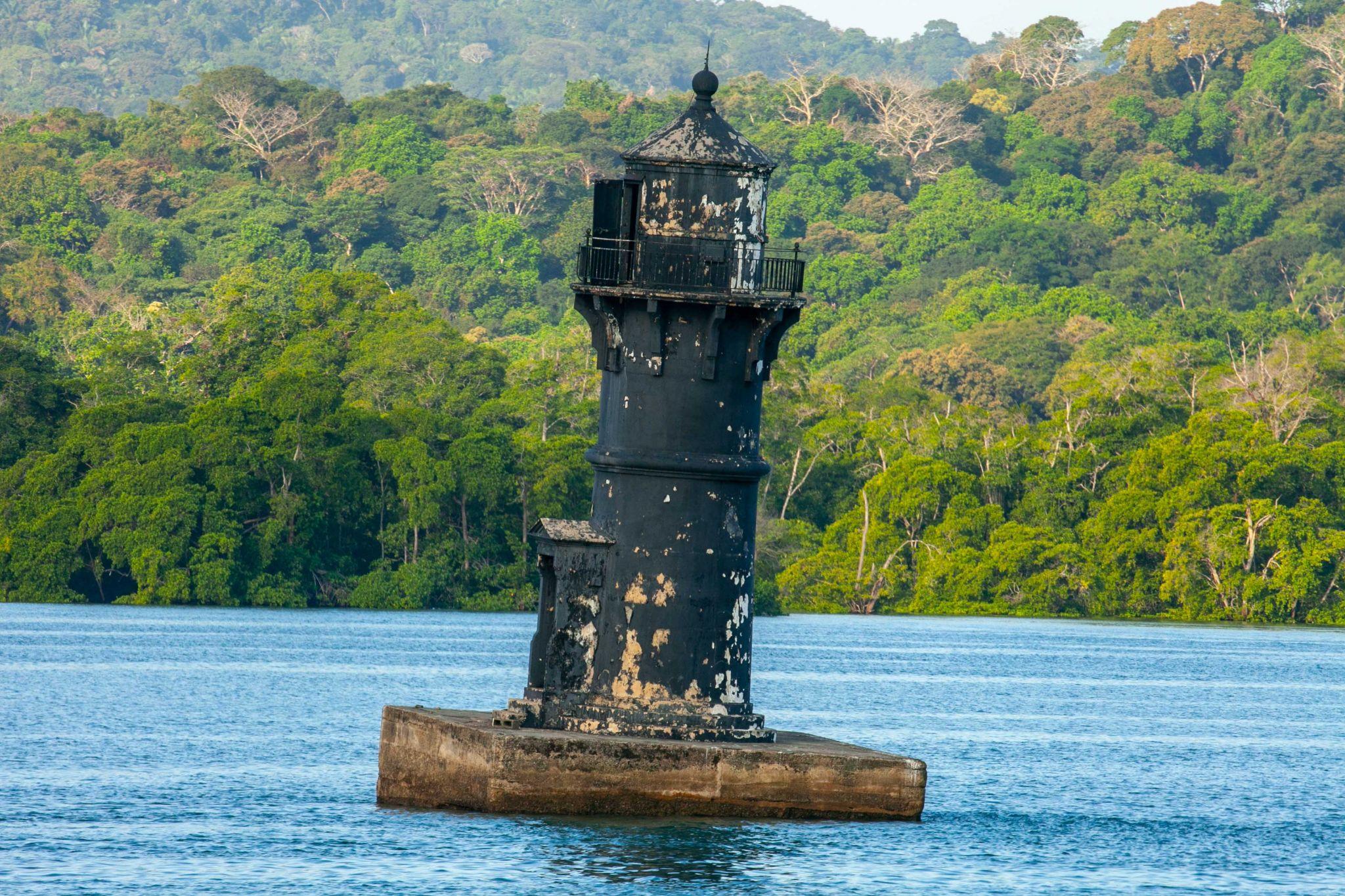 Old Lighthouse on the Panama Canal, Panama